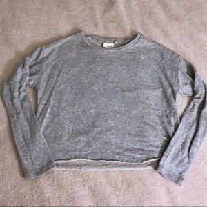 NWOT Wet Seal Distressed Fleece Sweatshirt Size M